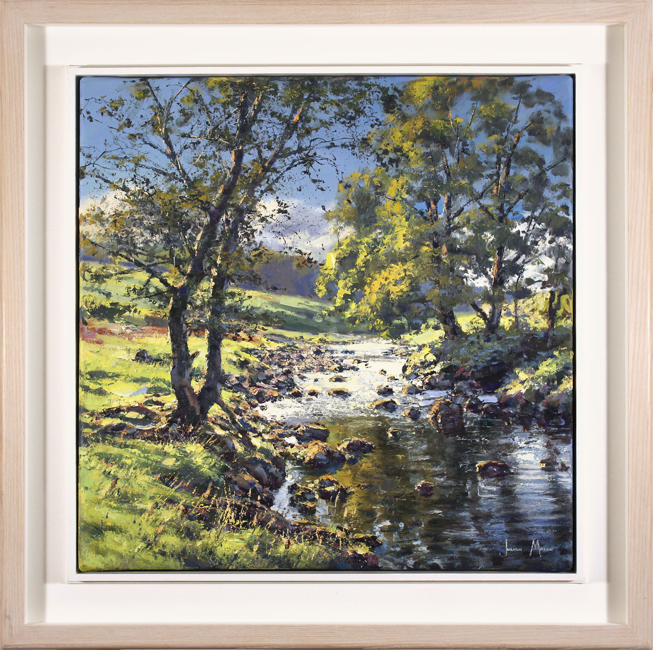 Julian Mason, Original oil painting on canvas, Dales Way, Langstrothdale, click to enlarge