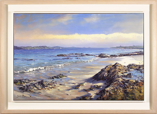 Julian Mason, Original oil painting on canvas, The Sound of Iona, Traigh Ban