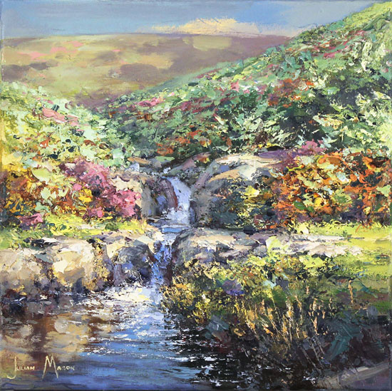 Julian Mason, Original oil painting on canvas, Highshaw Clough No frame image. Click to enlarge