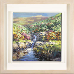 Julian Mason, Original oil painting on canvas, Highshaw Clough Large image. Click to enlarge