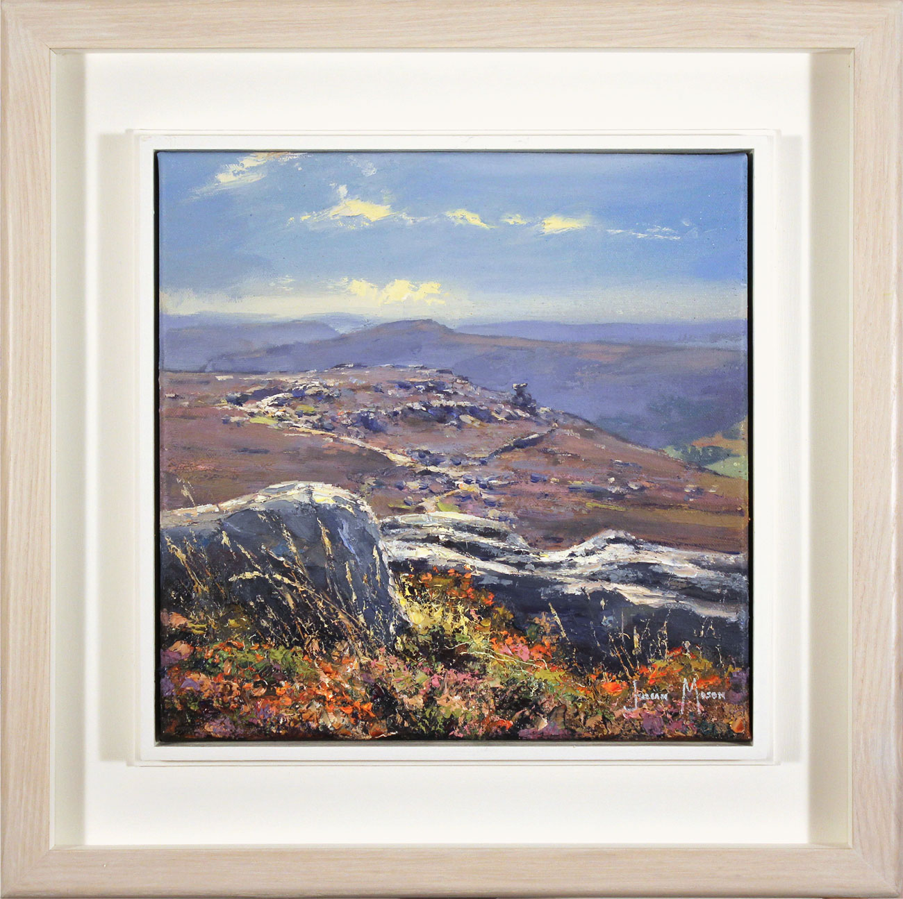 Julian Mason, Original oil painting on canvas, From Dovestone Tor, click to enlarge