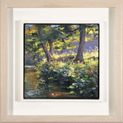 Julian Mason, Original oil painting on canvas, Tree Light, Derwent