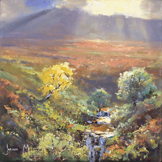 Julian Mason, Original oil painting on canvas, Mid Afternoon, Below Kinder