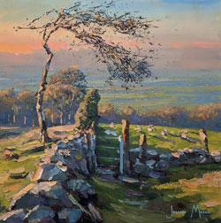 Julian Mason, Original oil painting on canvas, Evening Walk Large image. Click to enlarge