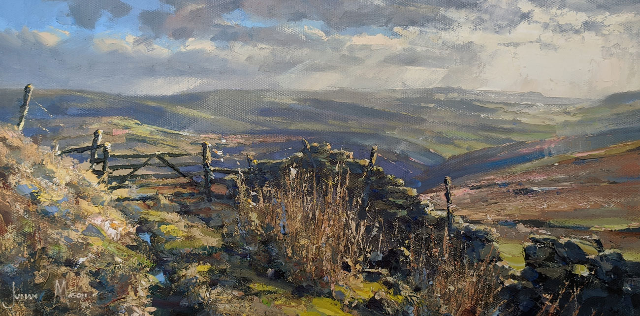 Julian Mason, Original oil painting on canvas, Danebower Views. Click to enlarge