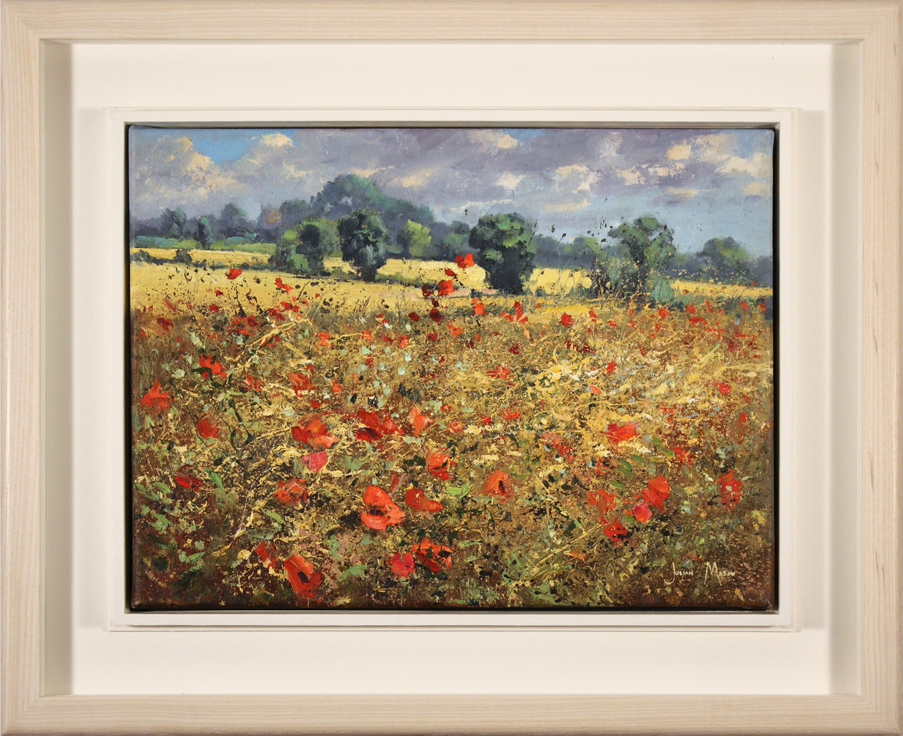 Julian Mason, Original oil painting on canvas, August Colour, click to enlarge