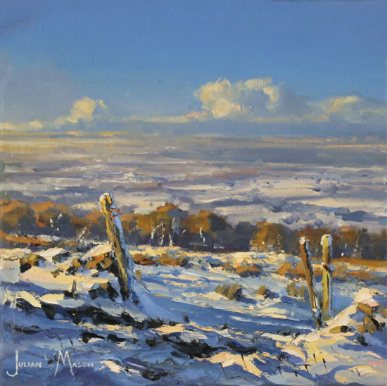 Julian Mason, Original oil painting on canvas, Snowfields Without frame image. Click to enlarge