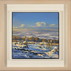 Julian Mason, Original oil painting on canvas, Snowfields Large image. Click to enlarge