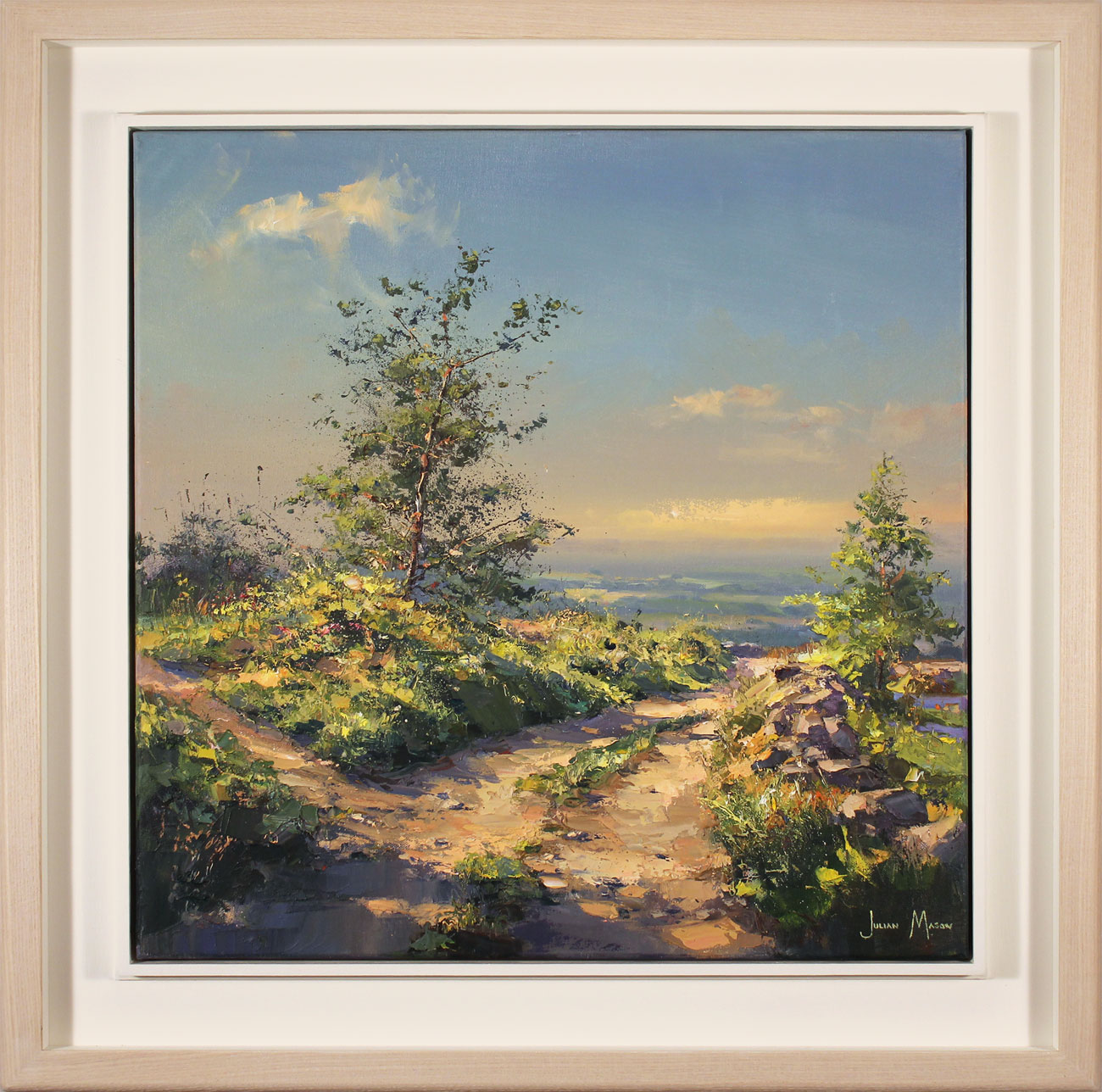 Julian Mason, Original oil painting on canvas, May on the Gritstone Trail. Click to enlarge