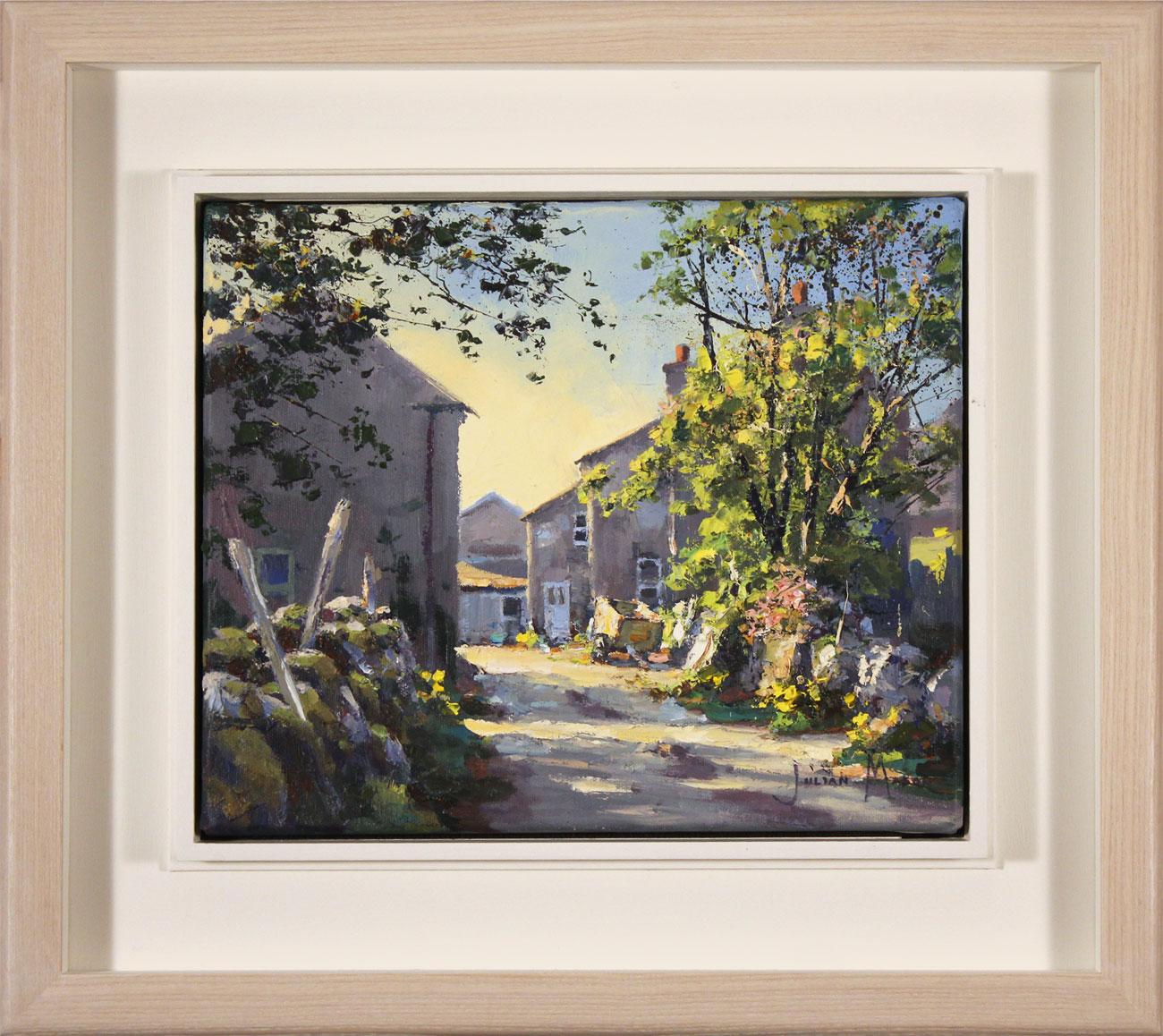 Julian Mason, Original oil painting on canvas, Spring at Beckermonds, click to enlarge