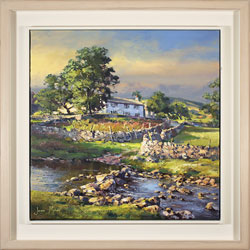 Julian Mason, Original oil painting on canvas, River Wharfe, Beckermonds Large image. Click to enlarge