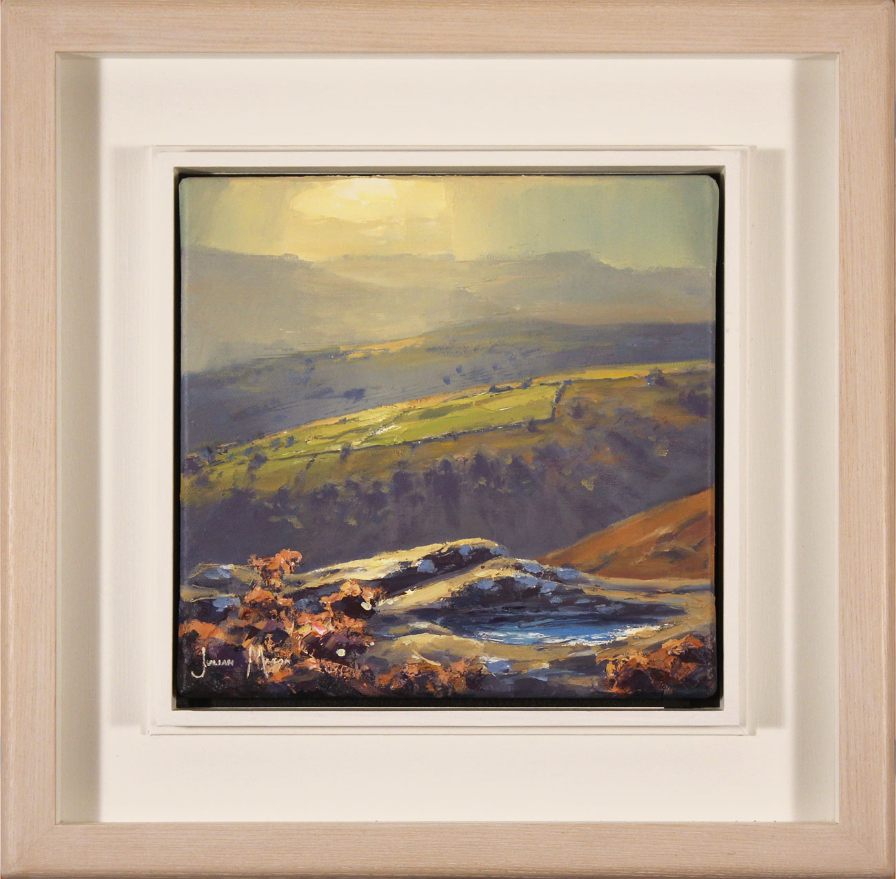 Julian Mason, Original oil painting on canvas, Grouse Pool, Derwent Edge, click to enlarge