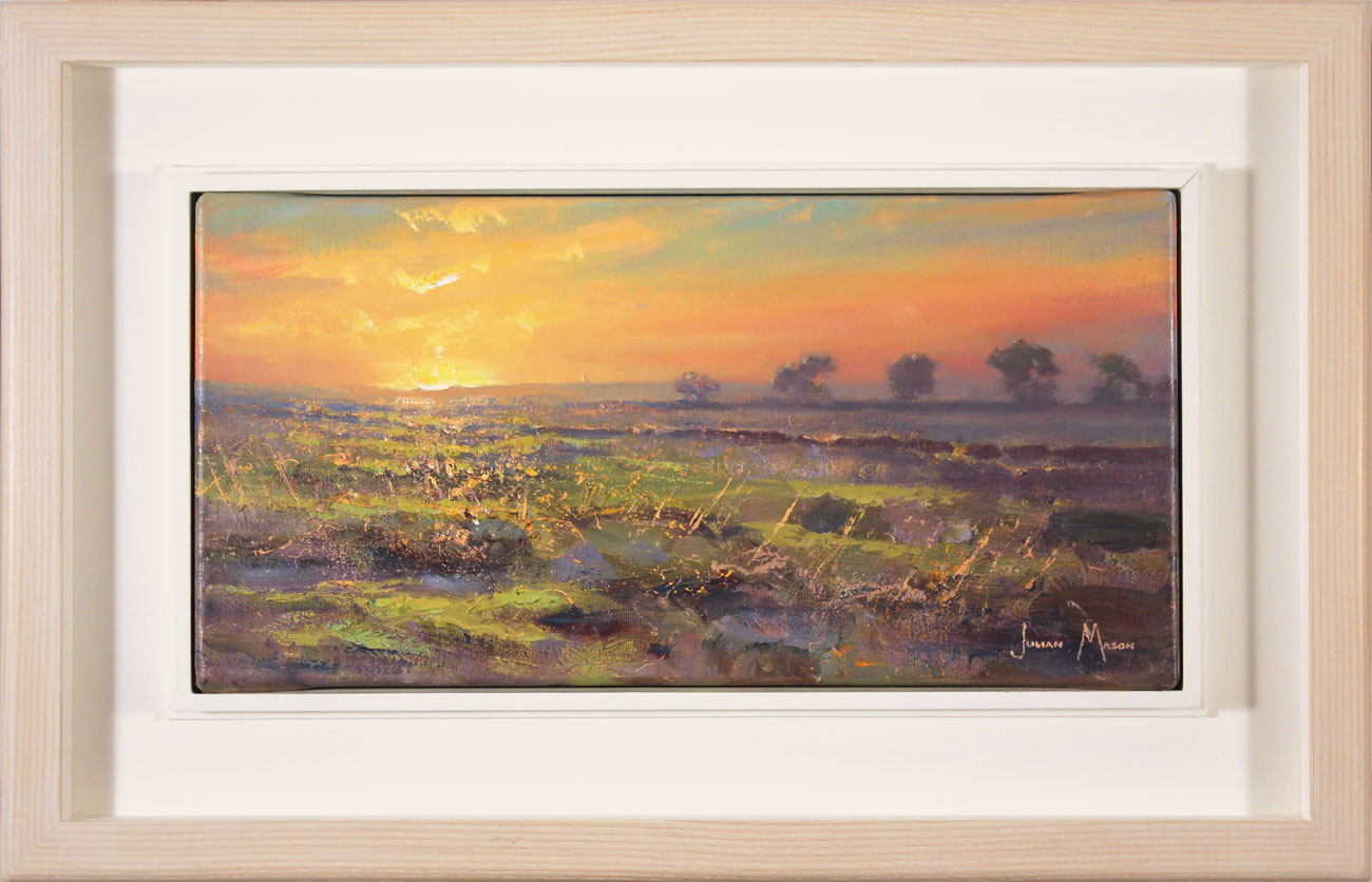 Julian Mason, Original oil painting on canvas, Evening Moorland, click to enlarge