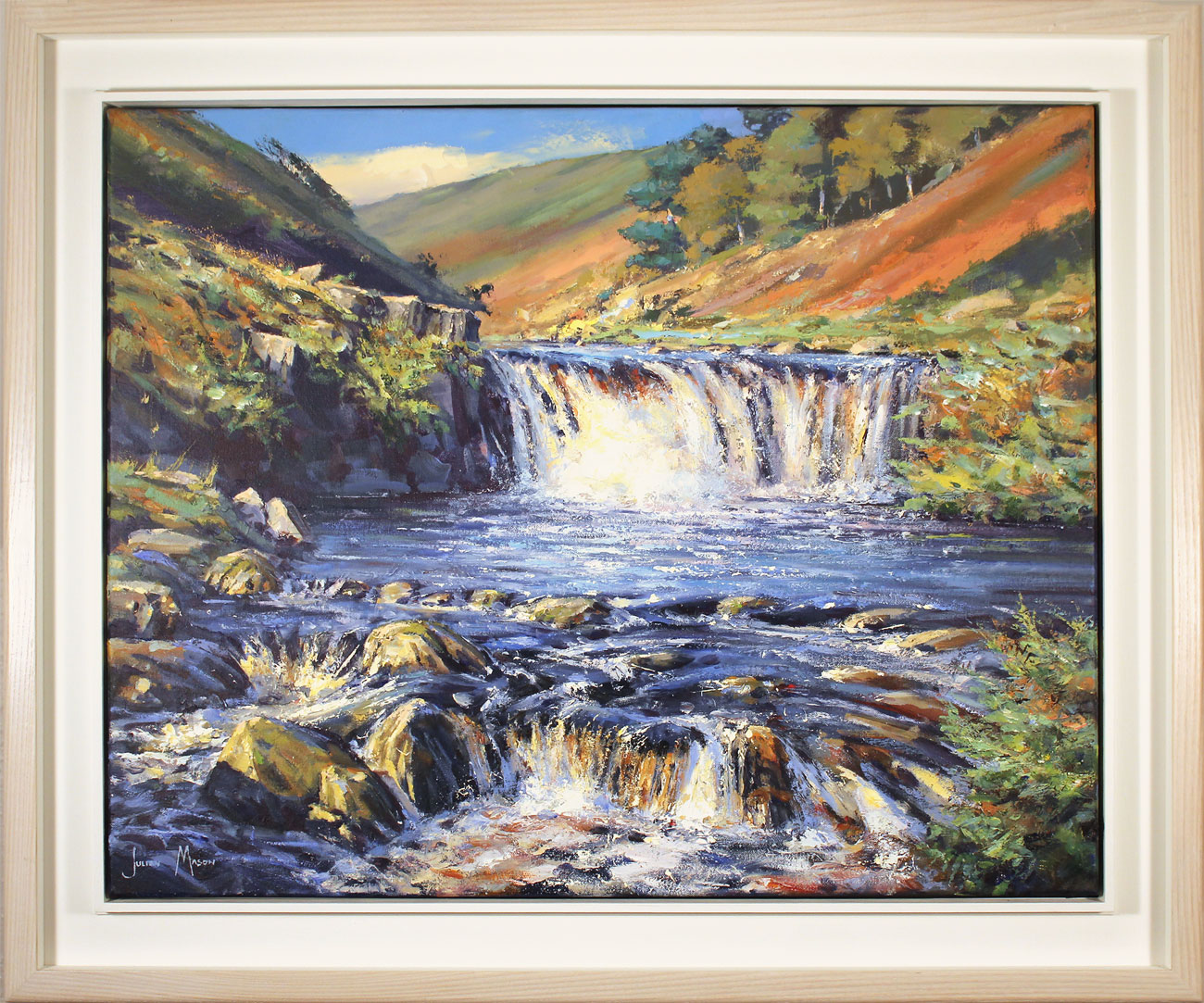 Julian Mason, Original oil painting on canvas, After the Rain, Three Shires Head, click to enlarge