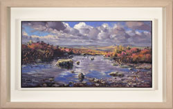 Julian Mason, Original oil painting on canvas, Pools on Stanage Edge