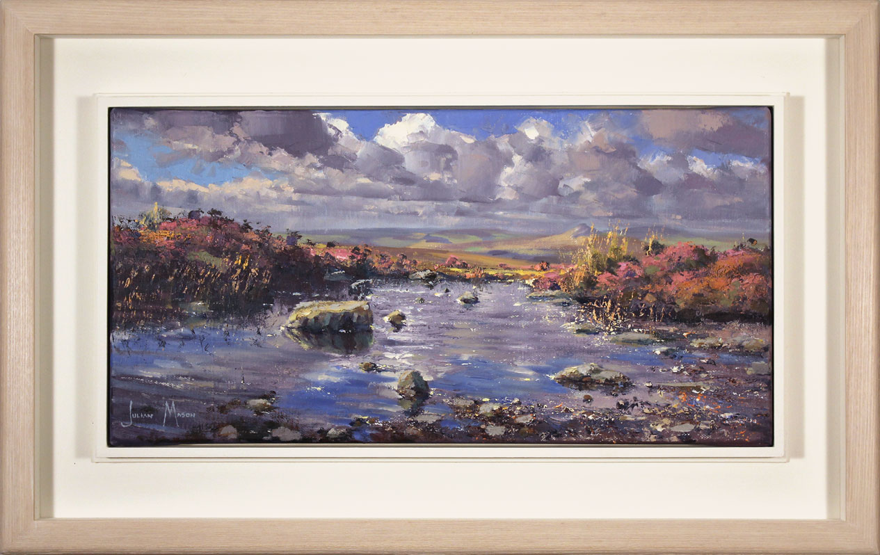 Julian Mason, Original oil painting on canvas, Pools on Stanage Edge, click to enlarge