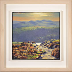 Julian Mason, Original oil painting on canvas, Moorland Dusk