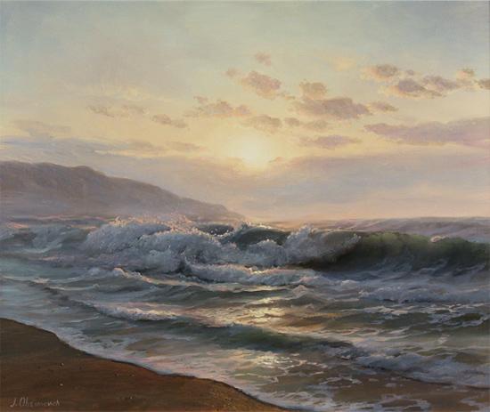 Juriy Ohremovich, Original oil painting on canvas, Sunrise
