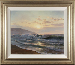 Juriy Ohremovich, Original oil painting on canvas, Glow of the Sea