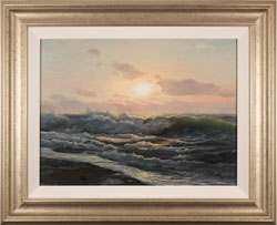 Juriy Ohremovich, Original oil painting on canvas, Breaking Waves  Large image. Click to enlarge