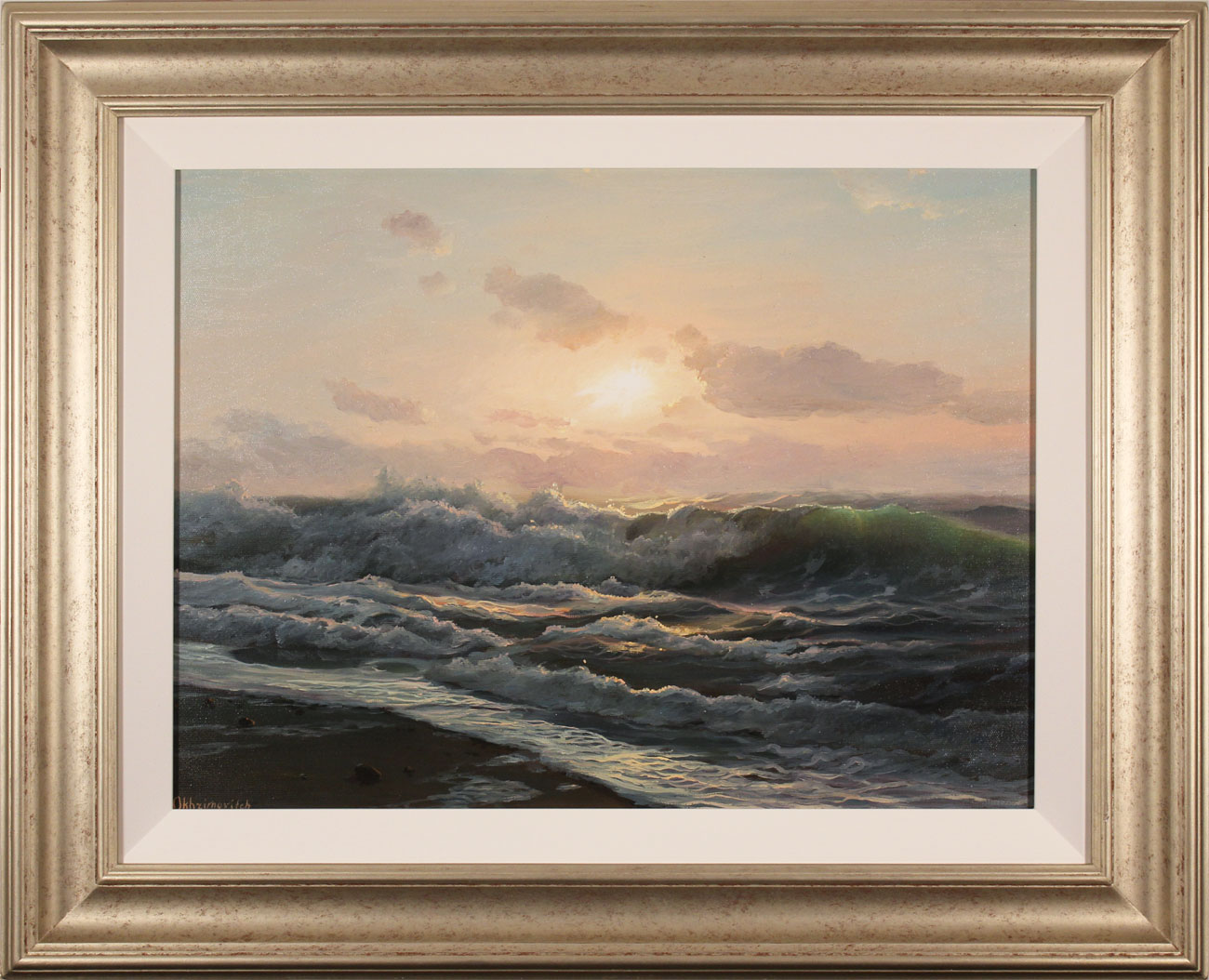 Juriy Ohremovich, Original oil painting on canvas, Breaking Waves . Click to enlarge