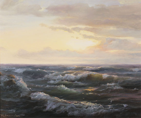 Juriy Ohremovich, Original oil painting on canvas, Sunrise Tides Without frame image. Click to enlarge