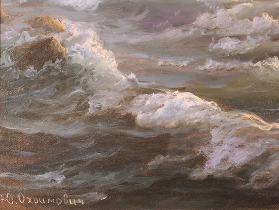 Juriy Ohremovich, Original oil painting on canvas, Sunrise Tides Signature image. Click to enlarge