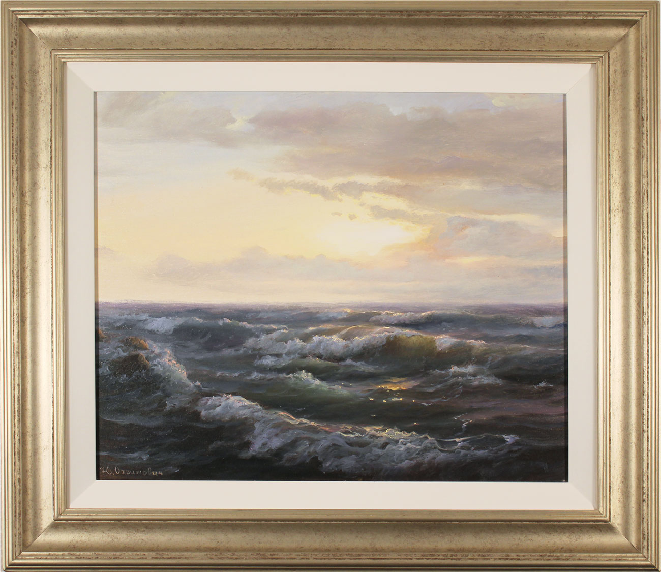 Juriy Ohremovich, Original oil painting on canvas, Sunrise Tides. Click to enlarge