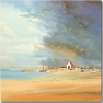 Keith Shaw, Original acrylic painting on board, Untitled Seaside