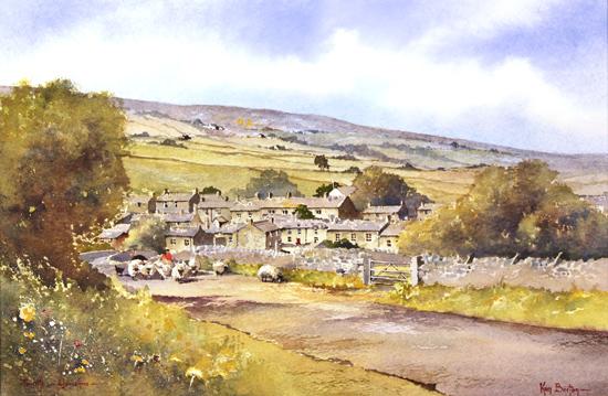 Ken Burton, Watercolour, Thwaite, Yorkshire