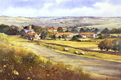 Ken Burton, Watercolour, Goathland, Yorkshire