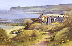 Ken Burton, Watercolour, Robin Hood's Bay, Yorkshire