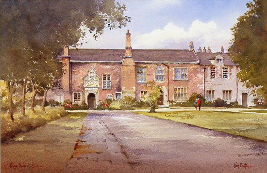 Ken Burton, Watercolour, Kings Manor, York No frame image. Click to enlarge