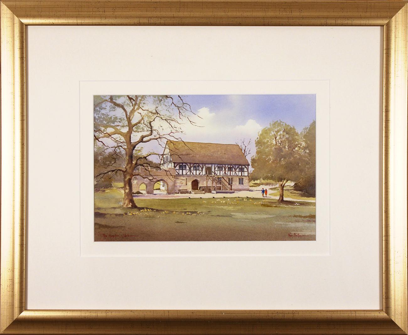 Ken Burton, Watercolour, The Hospitium, York, click to enlarge