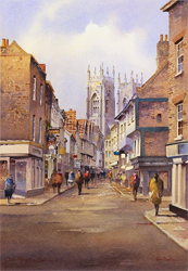 Ken Burton, Low Petergate, York, Watercolour