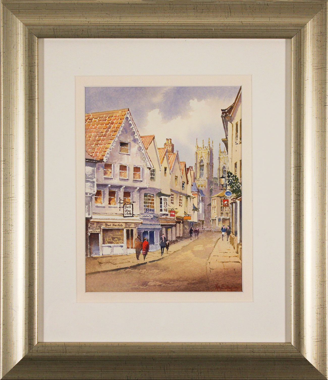 Ken Burton, Watercolour, Low Petergate, York. Click to enlarge