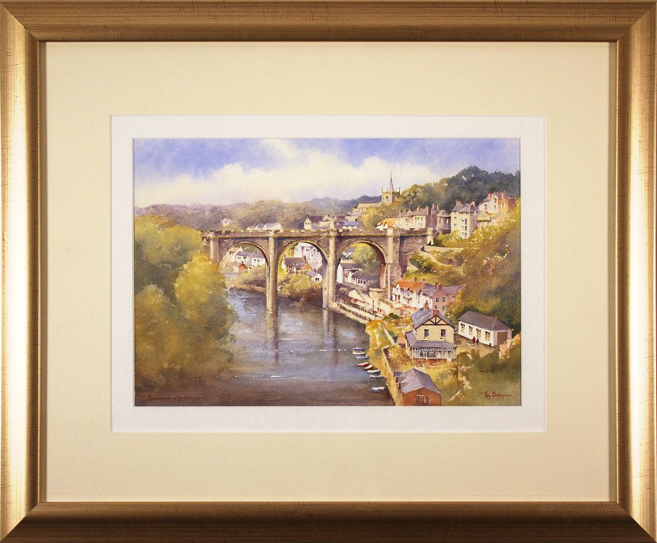 Ken Burton, Watercolour, Knaresborough, Yorkshire, click to enlarge