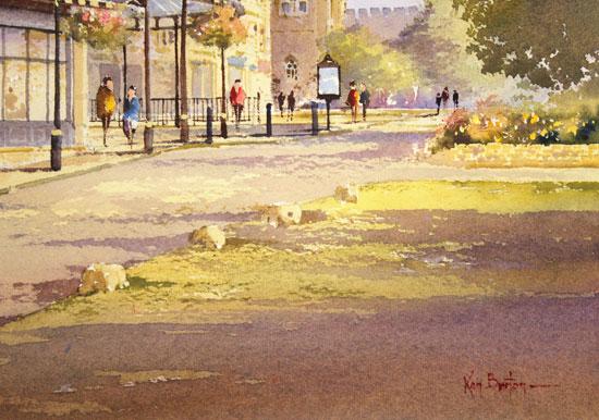 Ken Burton, Watercolour, Betty's, Harrogate Signature image. Click to enlarge
