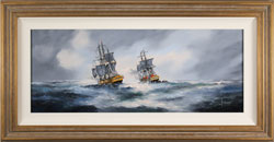 Ken Hammond, Original oil painting on canvas, HMS Rose Leaving Falmouth