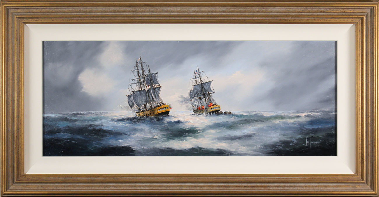Ken Hammond, Original oil painting on canvas, A Direct Hit. Click to enlarge
