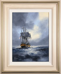 Ken Hammond, Original oil painting on panel, Eye of the Storm