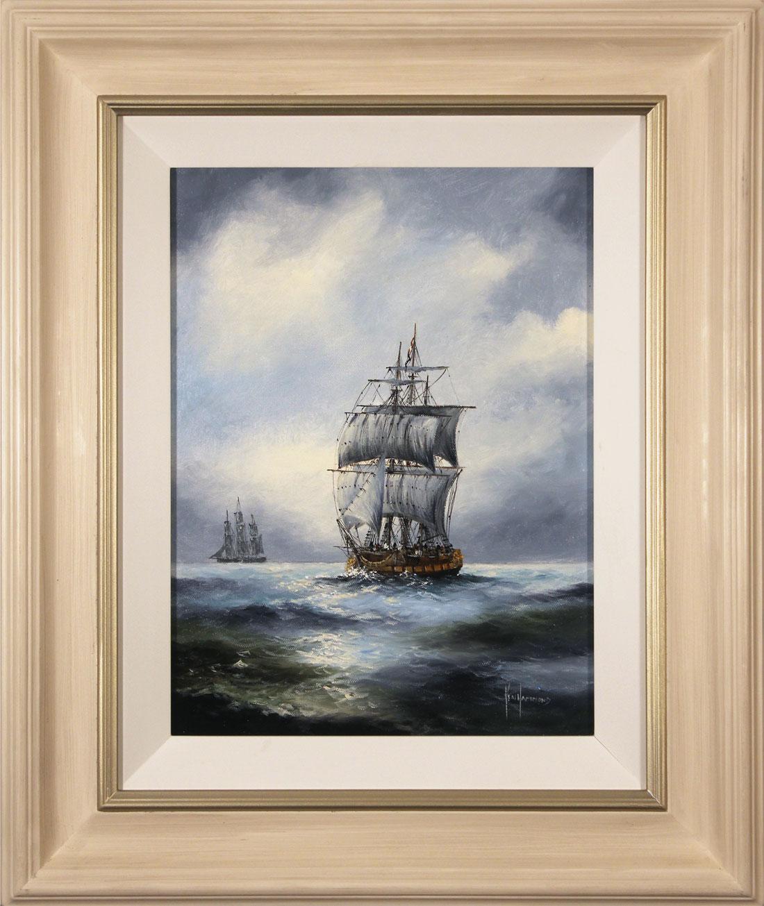 Ken Hammond, Original oil painting on canvas, High Seas, click to enlarge