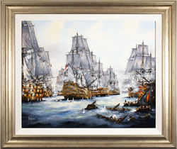 Ken Hammond, Battle of Trafalgar, 1805, Original oil painting on canvas