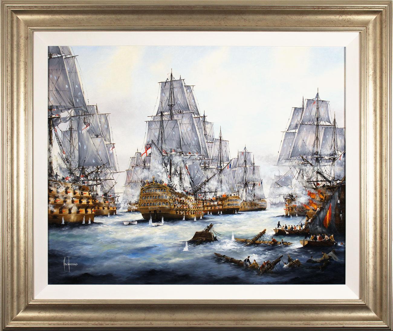 Ken Hammond, Original oil painting on canvas, Battle of Trafalgar, 1805. Click to enlarge