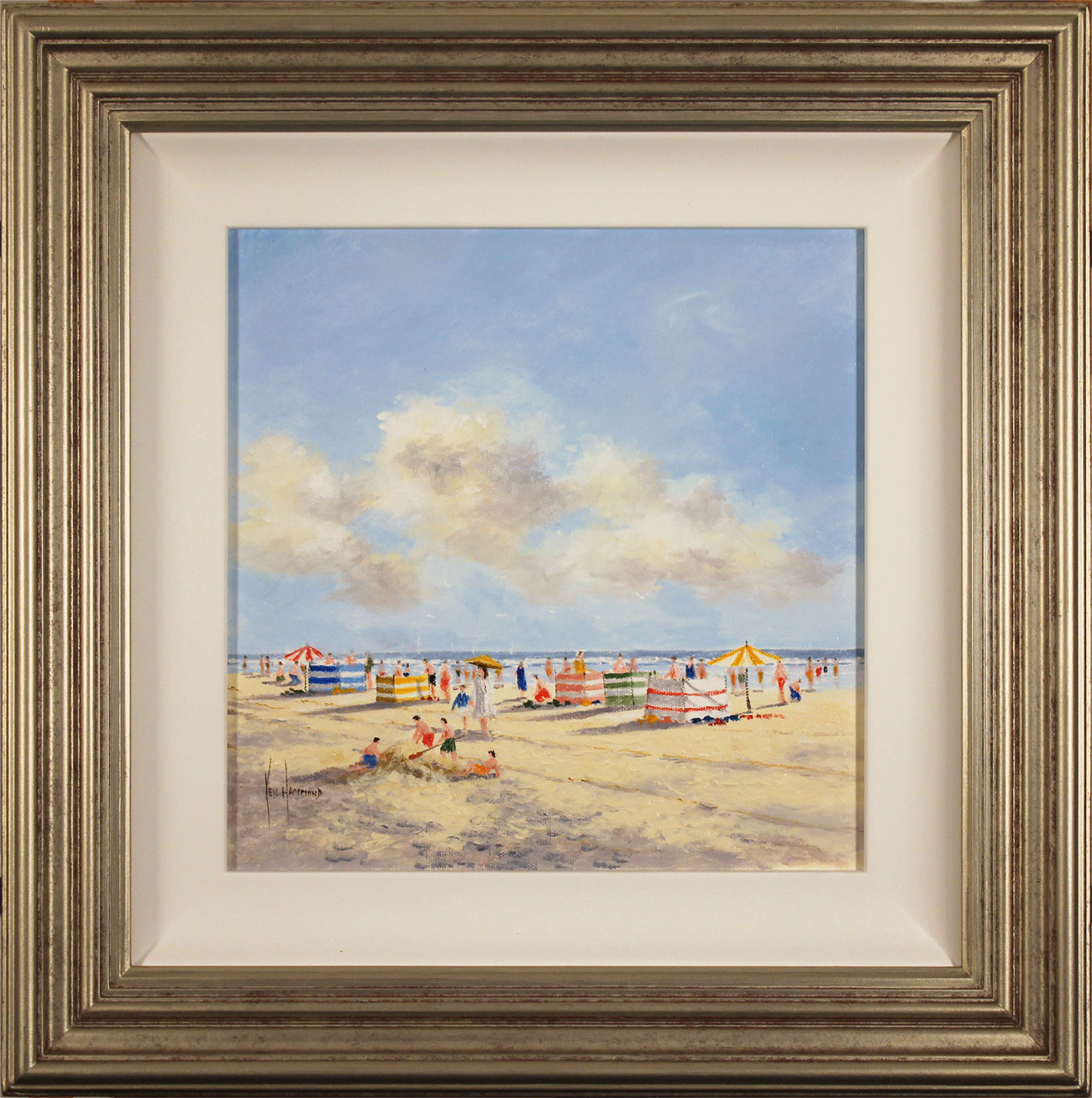Ken Hammond, Original oil painting on canvas, Summer Sands, click to enlarge