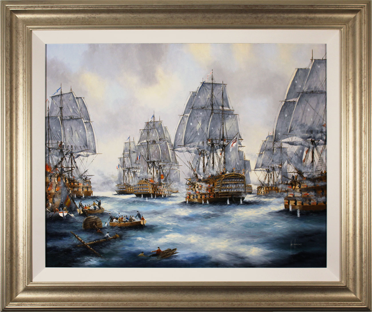 Ken Hammond, Original oil painting on canvas, Battle of Trafalgar. Click to enlarge