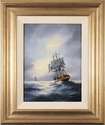 Ken Hammond, Original oil painting on panel, The Chase Large image. Click to enlarge