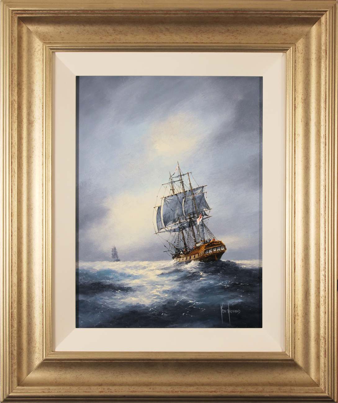 Ken Hammond, Original oil painting on panel, The Chase. Click to enlarge