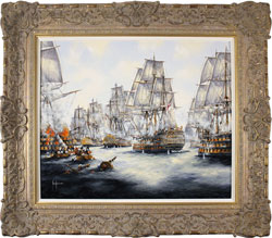 Ken Hammond, Original oil painting on panel, Battle of Trafalgar, 1805