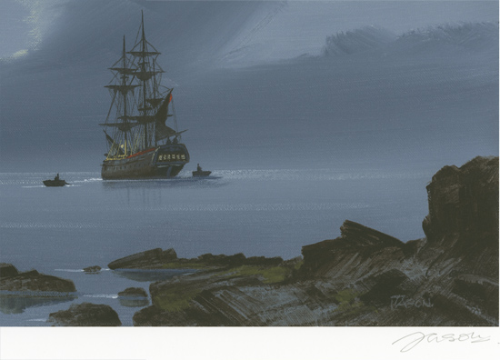 Les Spence, Signed limited edition print, Smuggler's Bay Signature image. Click to enlarge